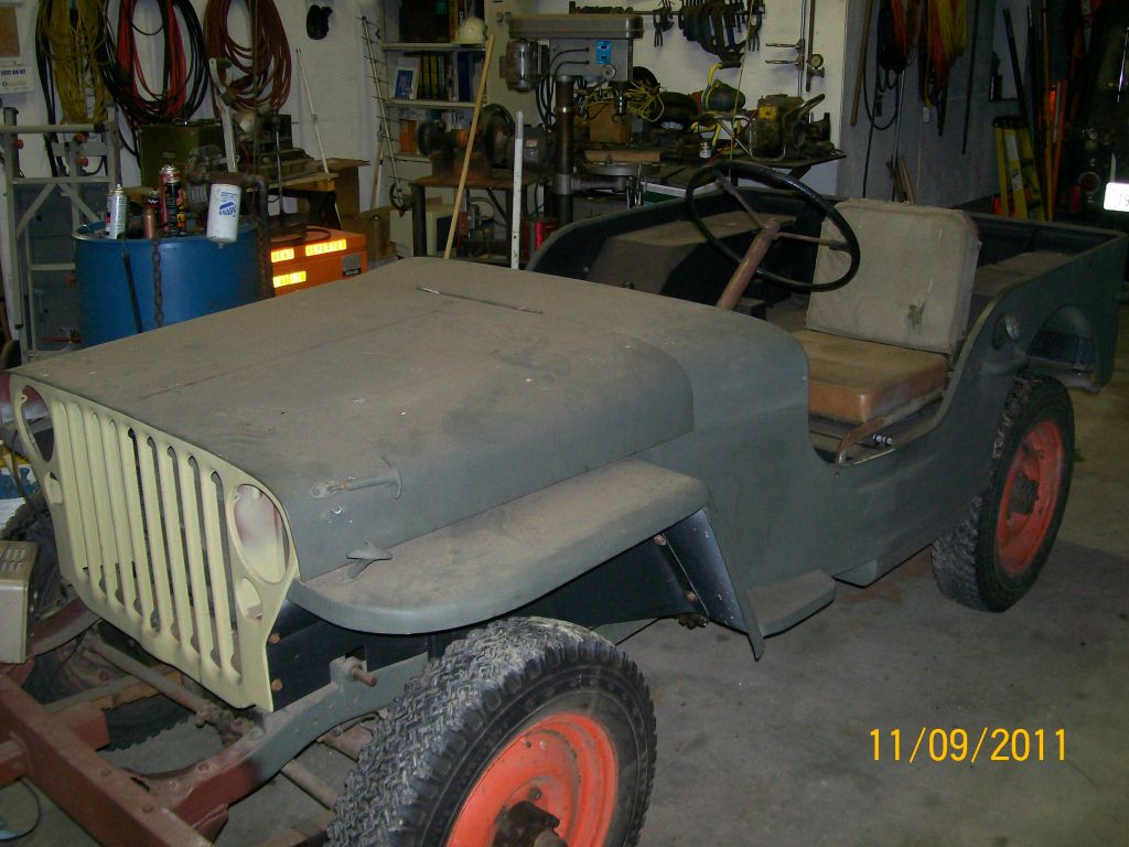 1943 Jeep Mb Willys Rear Seat